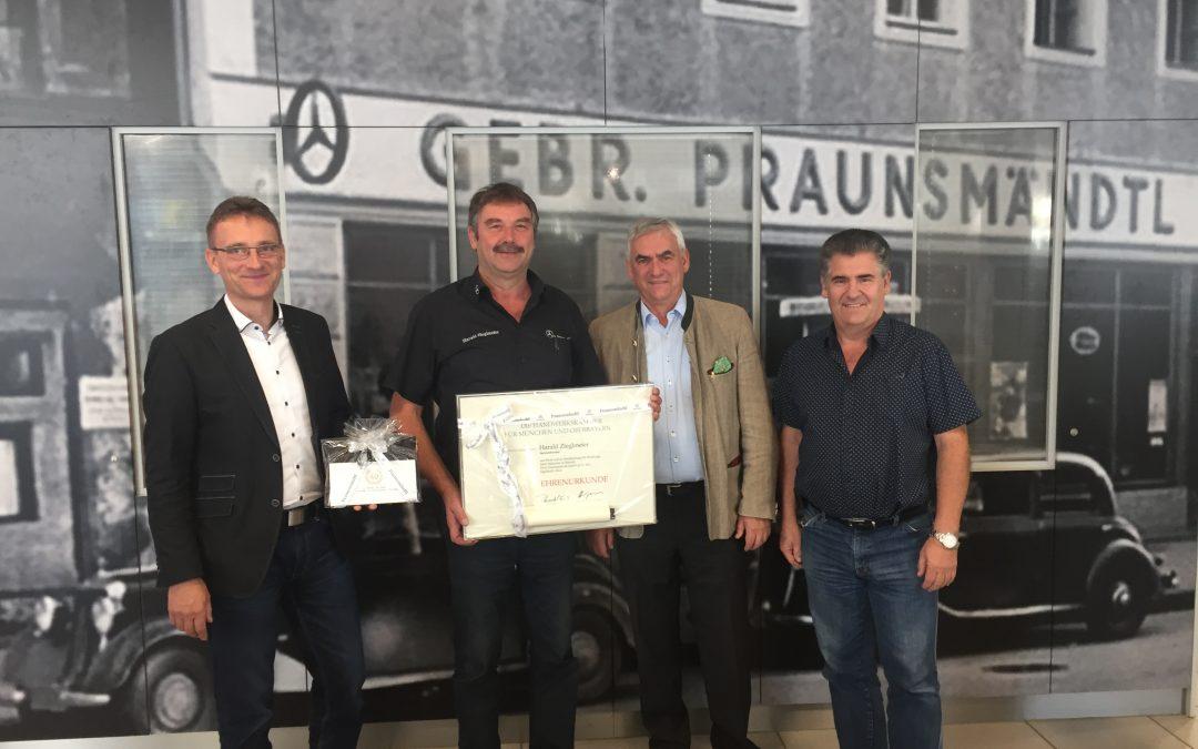 40 Jahre Betriebszugehörigkeit – Wir sagen Danke, Harry Zieglmeier!
